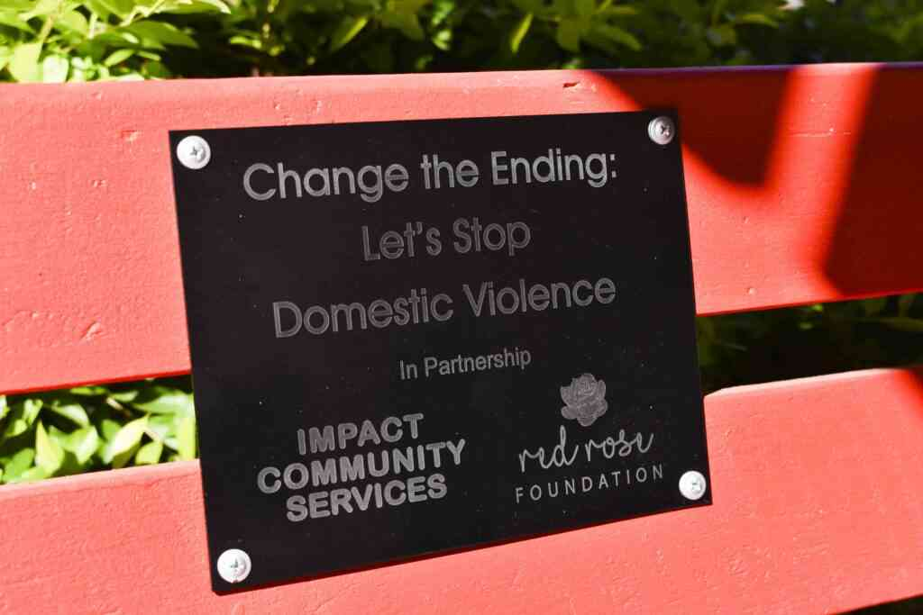 IMPACT Community Services supports the Red Rose Foundation's Red Bench Project