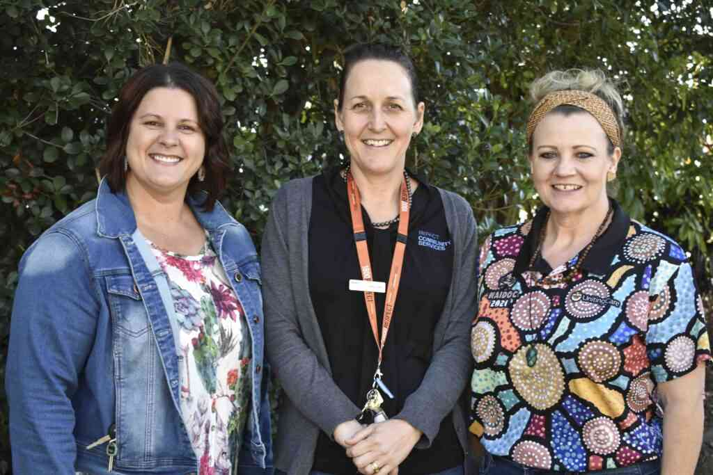 Angela Twyford from Family Law Pathways Network, Mel Clarke from IMPACT Community Services and Bec Spruce from Uniting Care & Family Relationship Centre