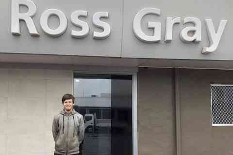 Kyle completes the first six months of his apprenticeship at Ross Gray Holden, Bundaberg