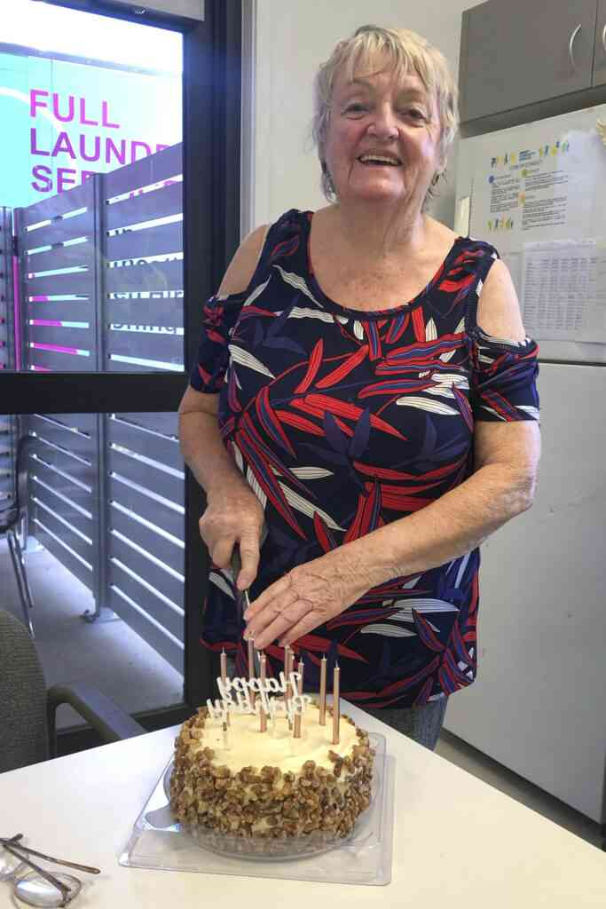 New Image Laundry worker Ann Duffy celebrates her 78th Birthday